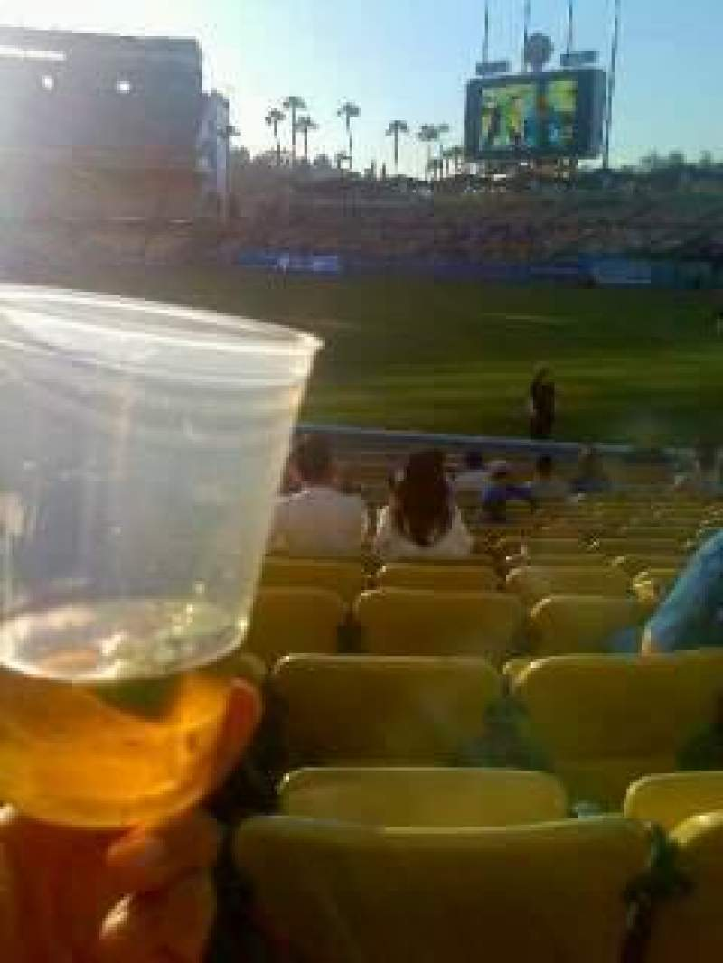 Seating view for Dodger Stadium