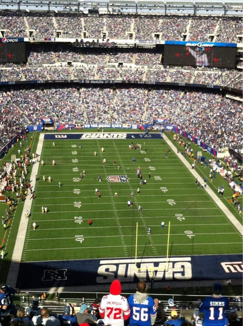Seating view for MetLife Stadium Section 327 Row 21 Seat 18