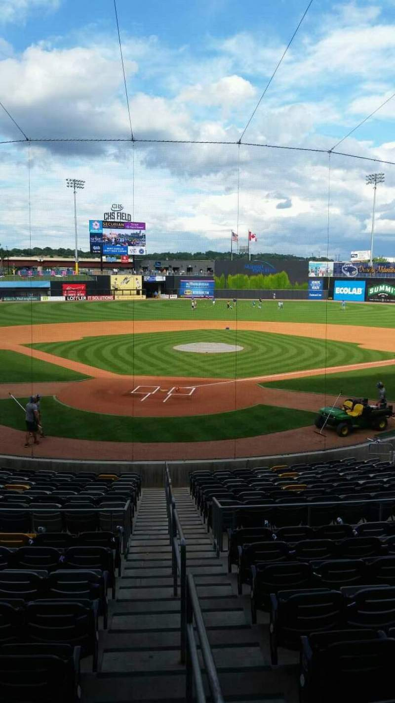 CHS Field, section: 108, row: 19, seat: 22