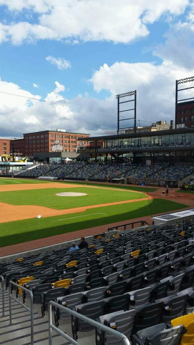 CHS Field, section: 115, row: 19, seat: 1