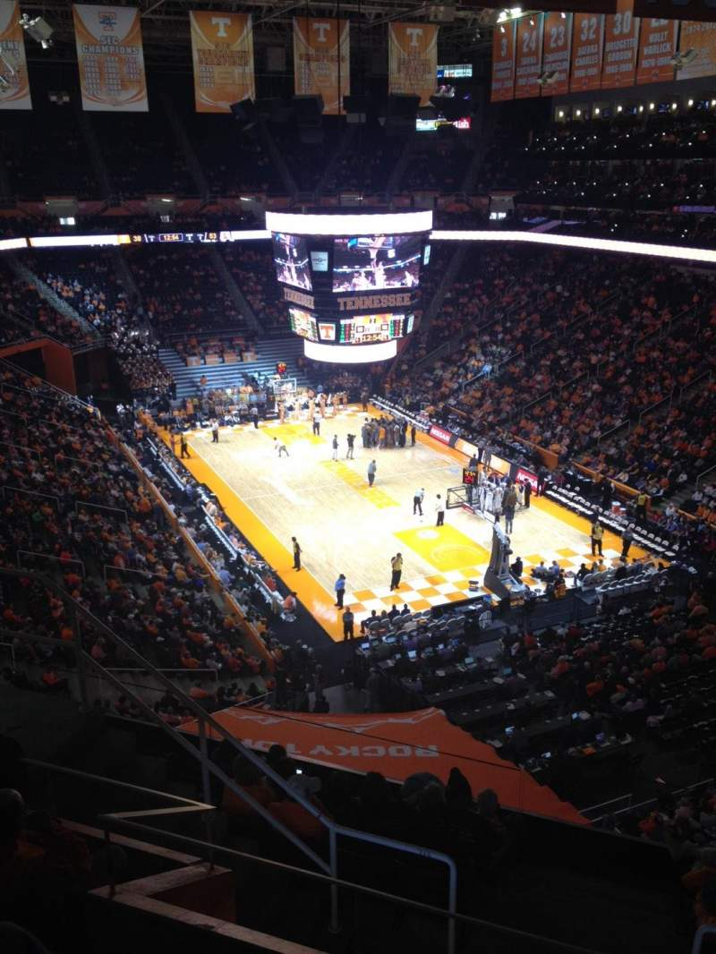 Seating view for Thompson-Boling Arena Section 315 Row 5 Seat 6