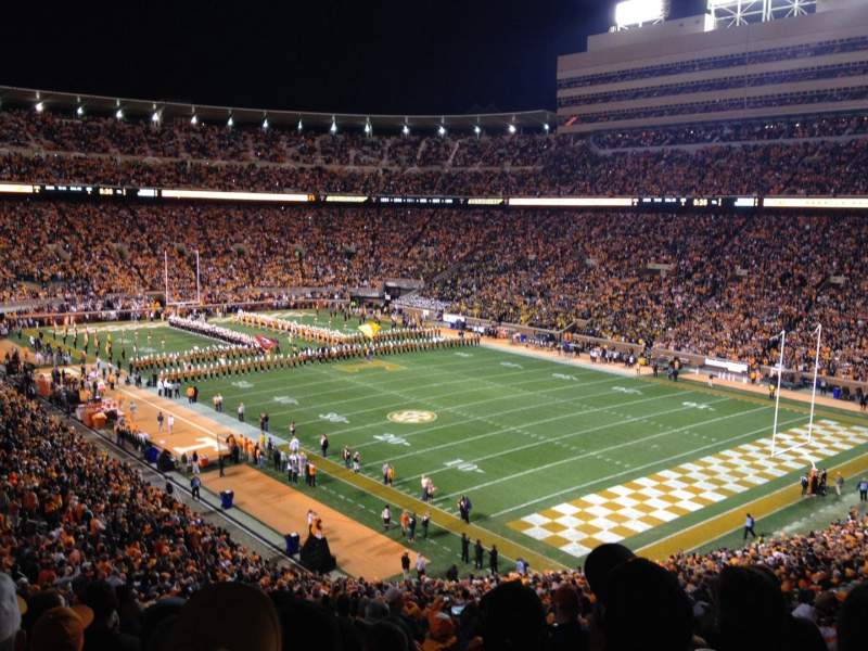 Seating view for Neyland Stadium Section P Row 58 Seat 18
