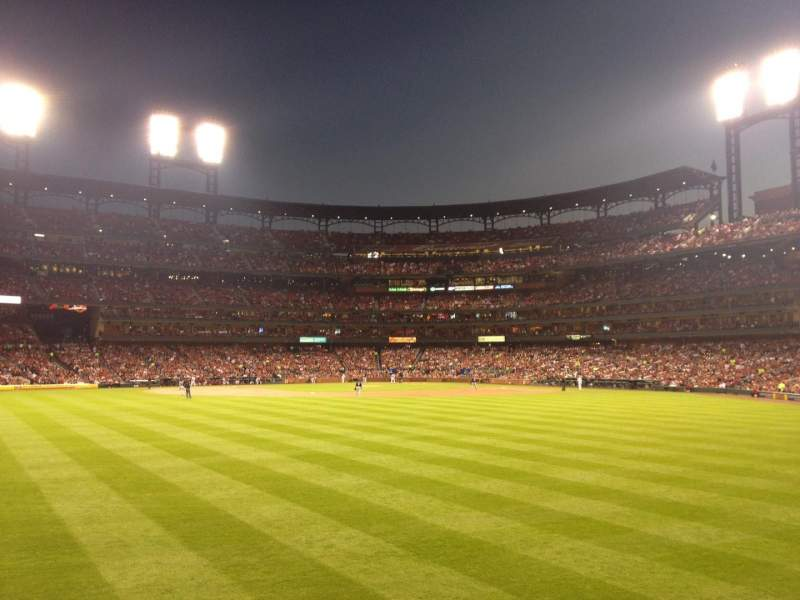 Busch Stadium, section: 595, row: 3, seat: 6