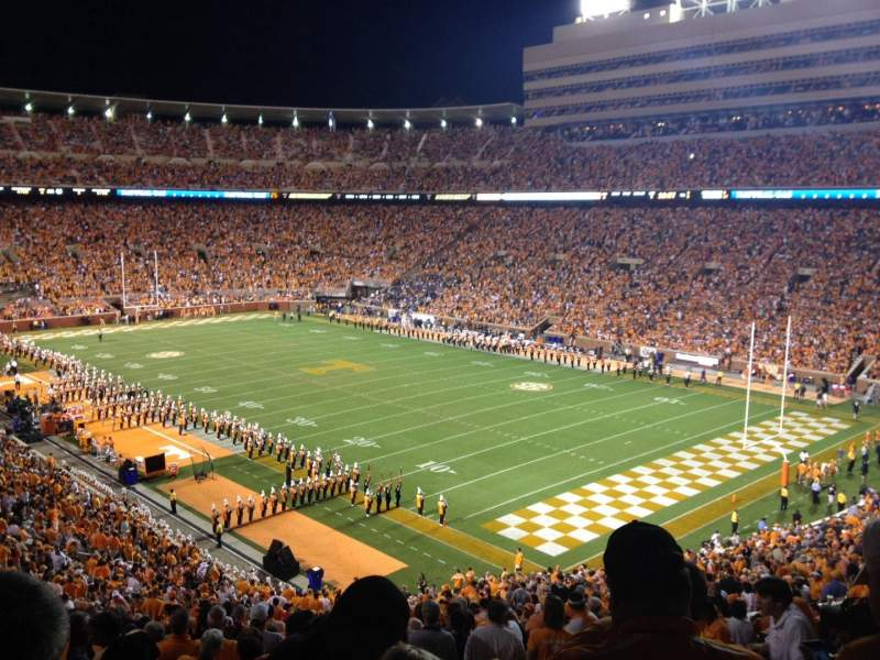 Seating view for Neyland Stadium Section P Row 58 Seat 20