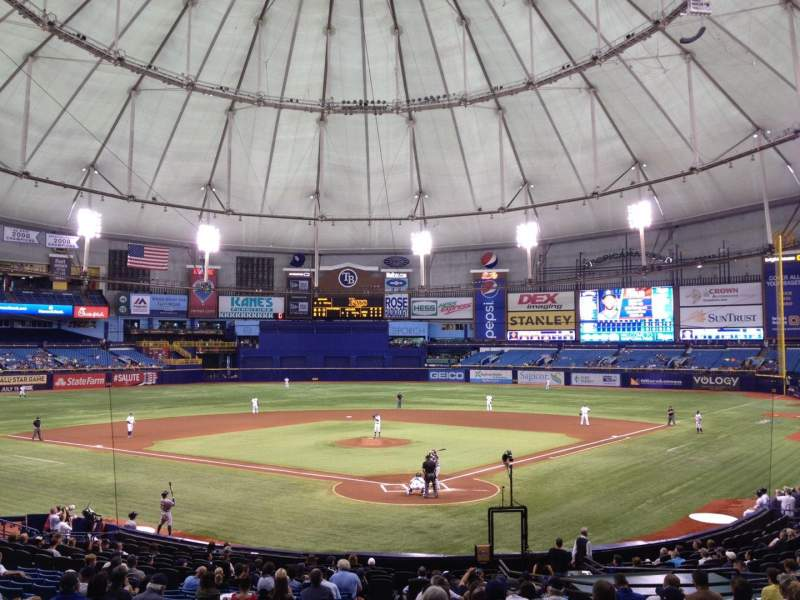 Seating view for Tropicana Field Section 101 Row FF Seat 1