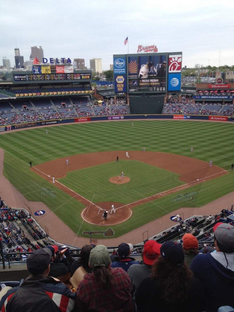 Seating view for Turner Field Section 401 Row 7 Seat 3