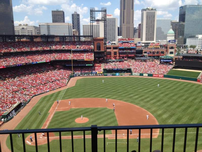 Seating view for Busch Stadium Section 445 Row 2 Seat 10
