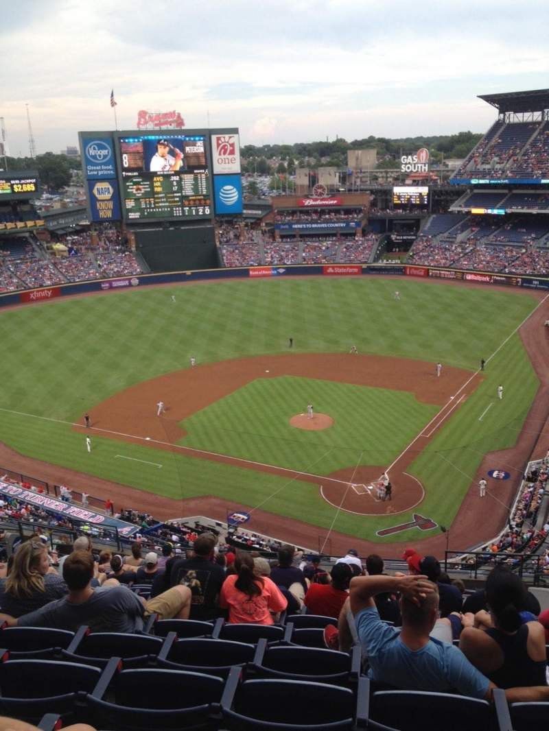 Seating view for Turner Field Section 404 Row 16 Seat 108