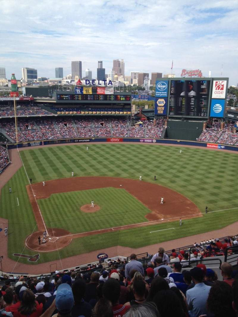 Seating view for Turner Field Section 405 Row 17 Seat 12
