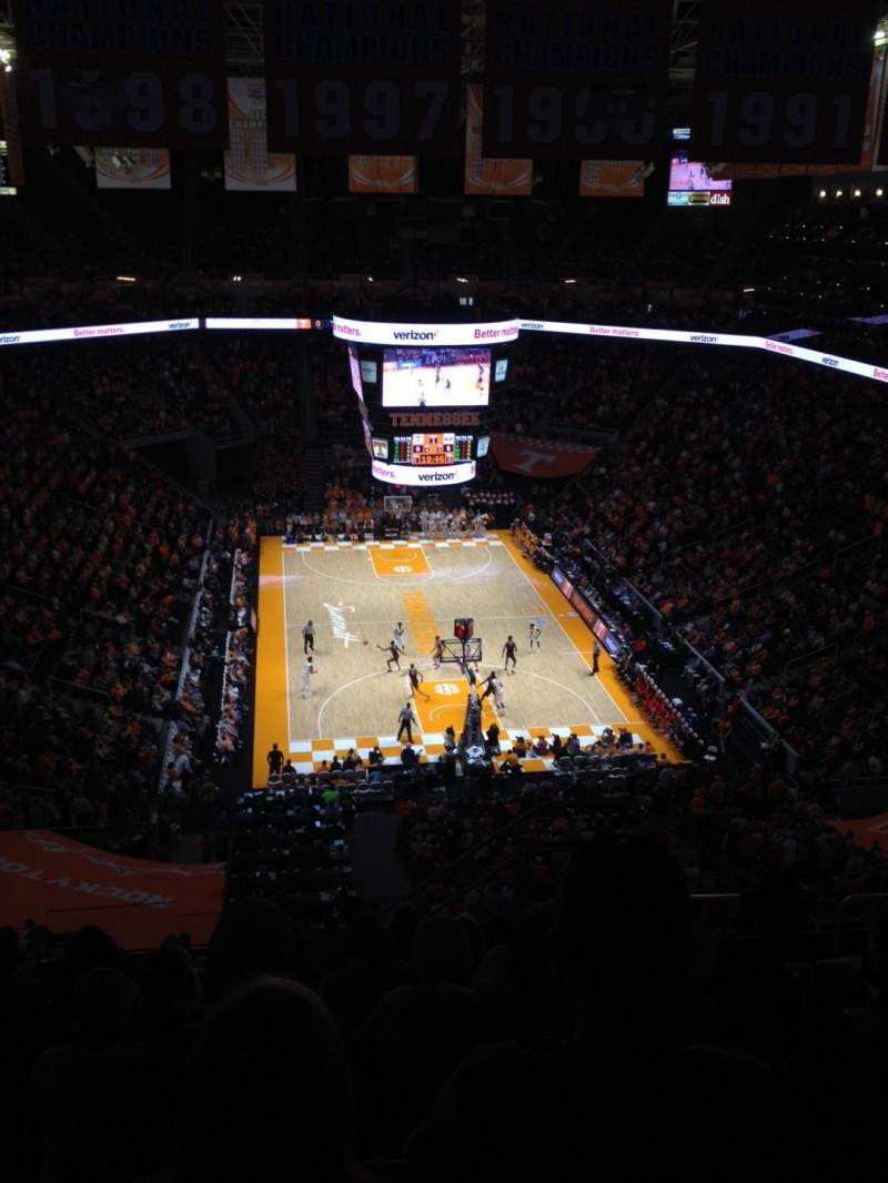 Seating view for Thompson-Boling Arena Section 314 Row 11 Seat 5