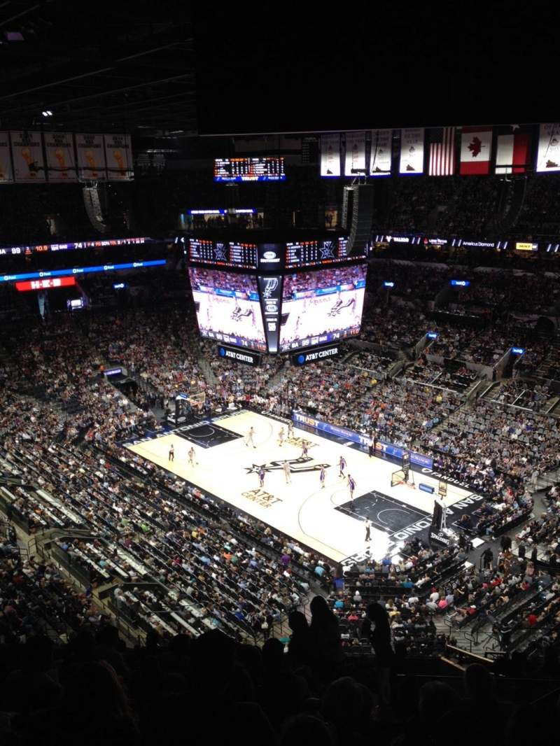 Seating view for AT&T Center Section 220 Row 13 Seat 4