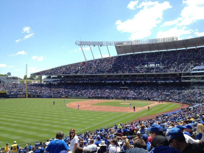 Seating view for Kauffman Stadium Section 209 Row NN Seat 7