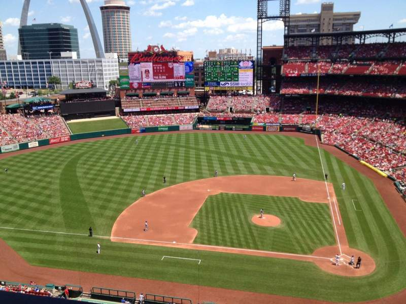 Seating view for Busch Stadium Section 454 Row 1 Seat 16