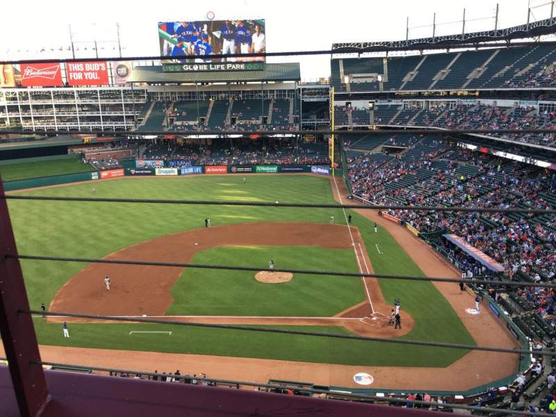 Seating view for Globe Life Park in Arlington Section 321 Row 1 Seat 7