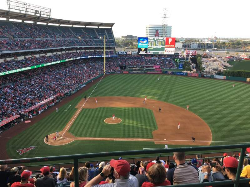 Seating view for Angel Stadium Section V527 Row A Seat 1