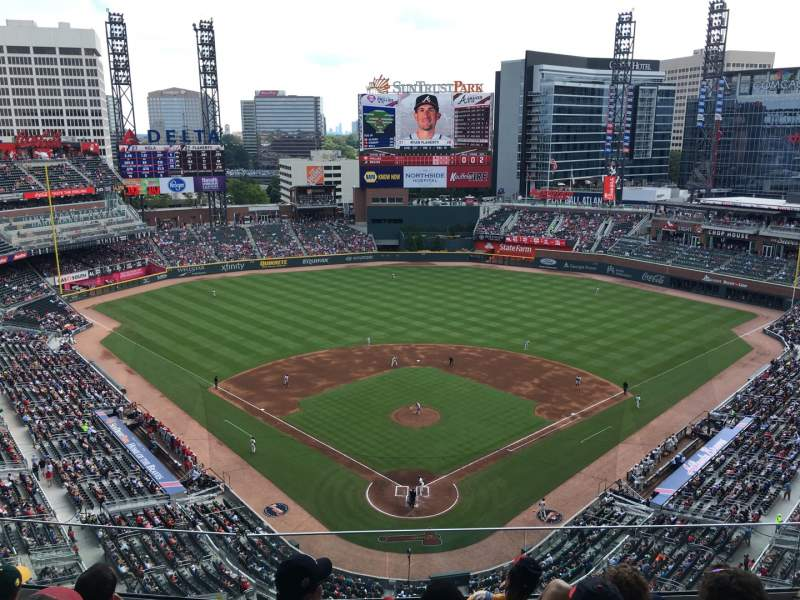 Seating view for SunTrust Park Section 426 Row 6 Seat 9