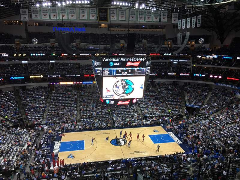 Seating view for American Airlines Center Section 327 Row G Seat 7
