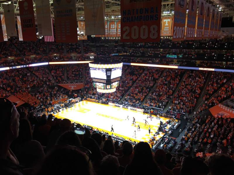 Seating view for Thompson-Boling Arena Section 217 Row 15 Seat 5