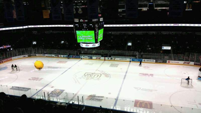 Seating view for Budweiser Gardens Section 314 Row j Seat 14