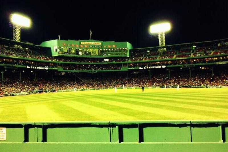 Seating view for Fenway Park Section Bleacher 41 Row 1 Seat 2