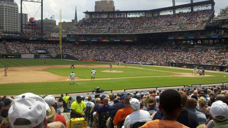 Seating view for Comerica Park Section 136 Row 29 Seat 1