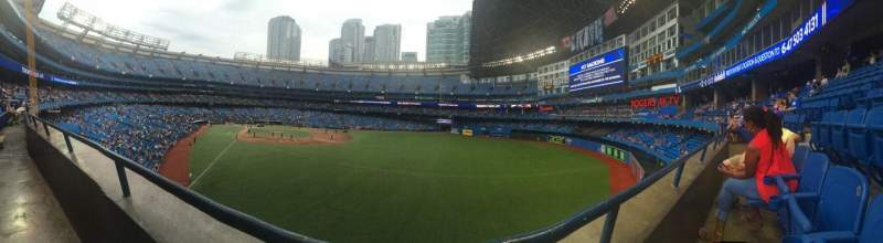 Seating view for Rogers Centre Section 208L Row 1 Seat 109
