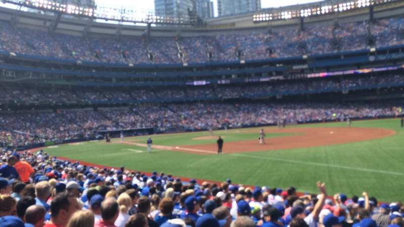 Seating view for Rogers Centre Section 113B Row 14 Seat 103