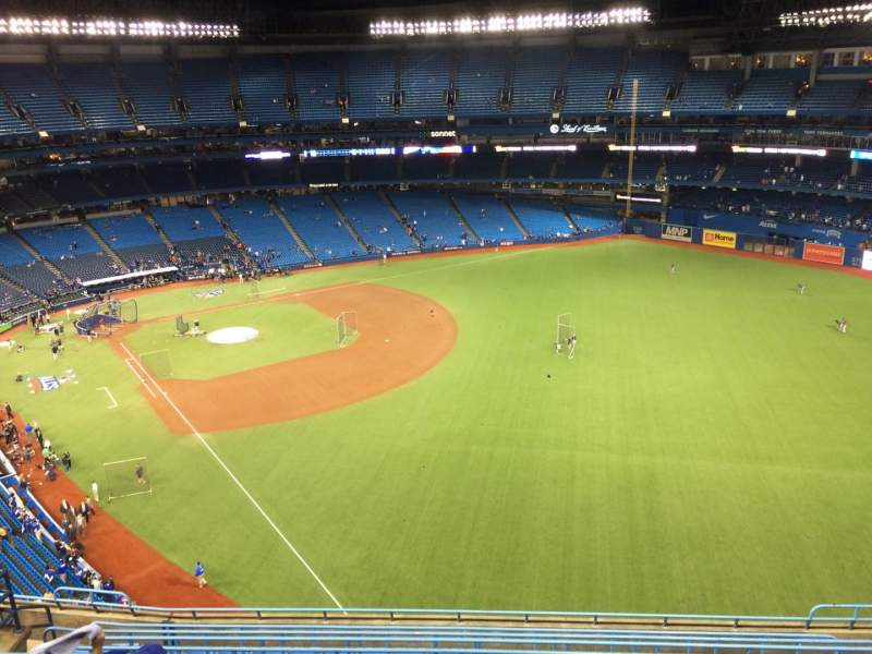 Seating view for Rogers Centre Section 510L Row 12 Seat 111