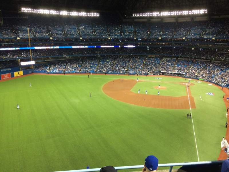 Seating view for Rogers Centre Section 539L Row 4 Seat 109