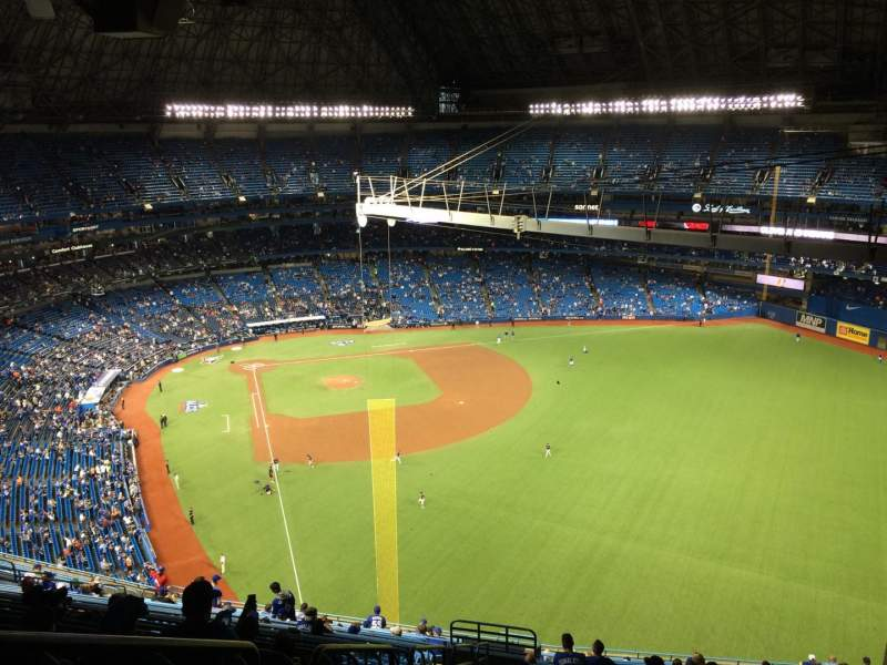 Seating view for Rogers Centre Section 509L Row 25 Seat 2