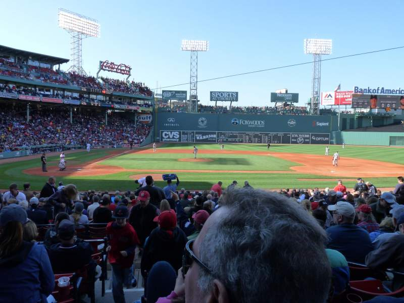 Seating view for Fenway Park Section Loge Box 119 Row GG Seat 4