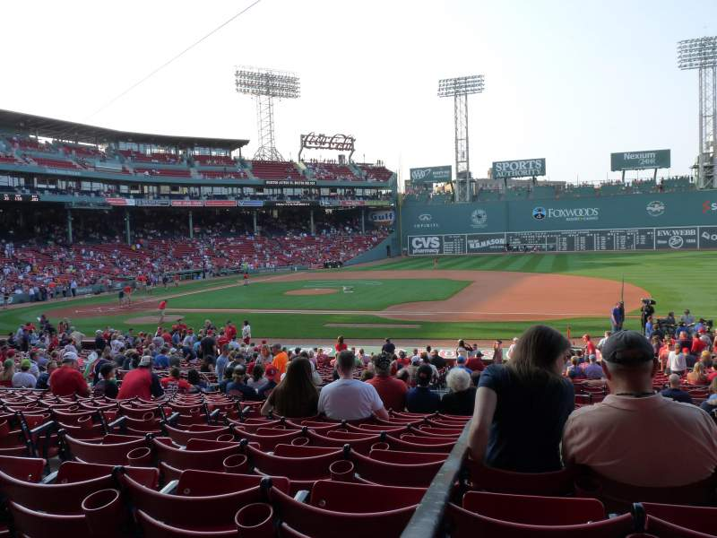 Seating view for Fenway Park Section Grandstand 14 Row 1 Seat 20