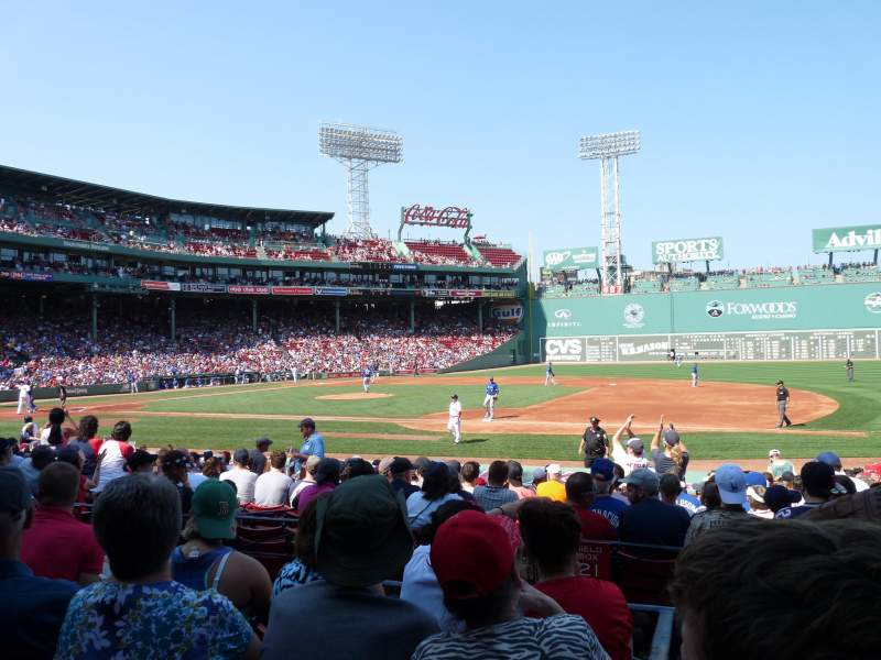 Seating view for Fenway Park Section Loge Box 108 Row DD Seat 4
