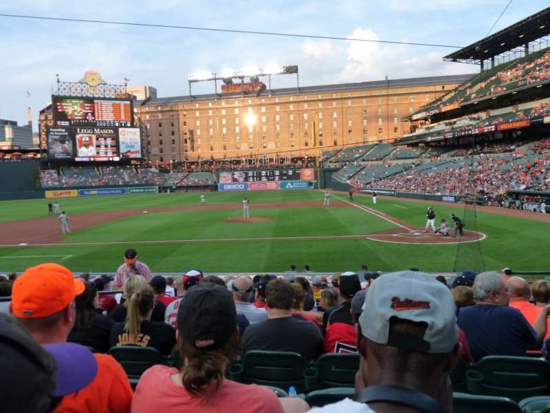 Seating view for Oriole Park at Camden Yards Section 48 Row 13 Seat 8