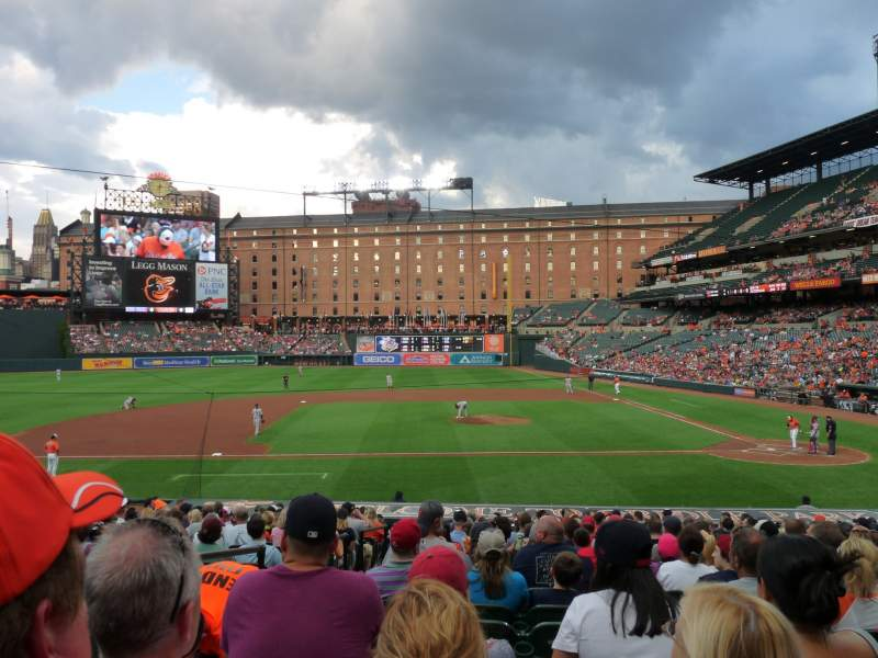 Seating view for Oriole Park at Camden Yards Section 50 Row 20 Seat 11