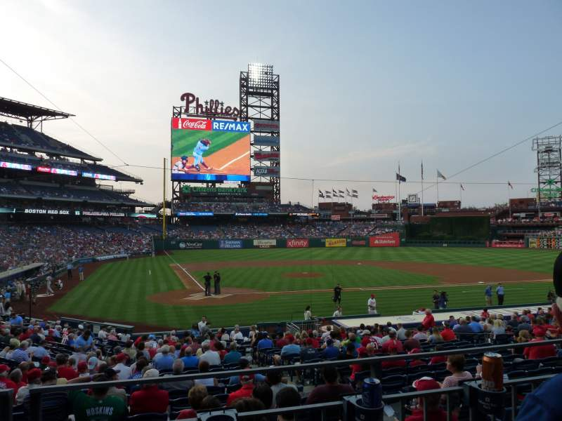 Seating view for Citizens Bank Park Section 120 Row 22 Seat 11
