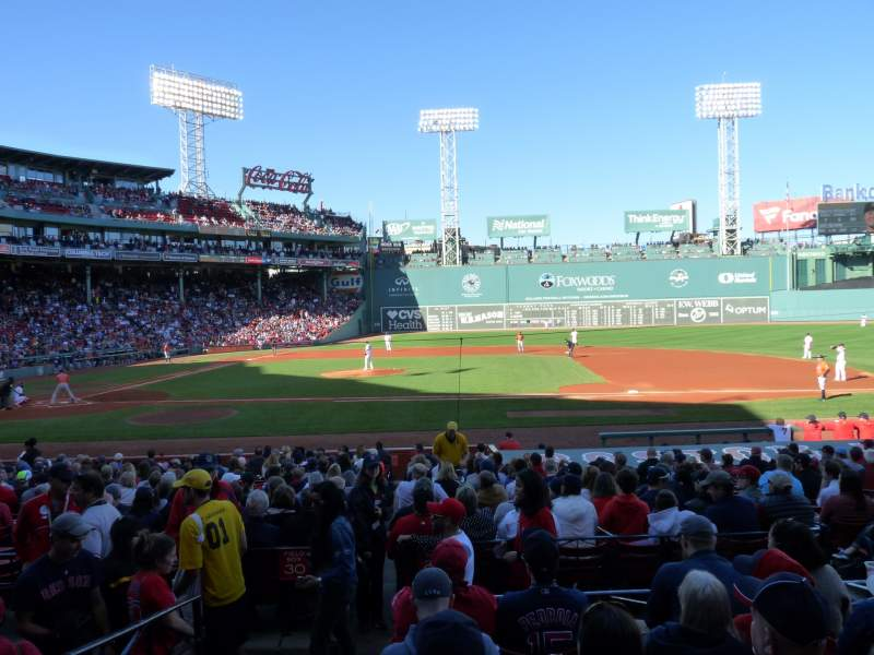 Seating view for Fenway Park Section Loge Box 115 Row FF Seat 6