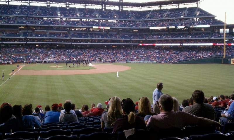 Seating view for Citizens Bank Park Section 106 Row 18 Seat 6