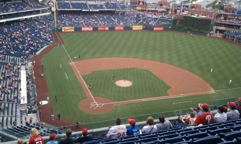 Seating view for Citizens Bank Park Section 418 Row 11 Seat 17