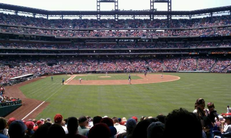 Seating view for Citizens Bank Park Section 106 Row 18 Seat 4