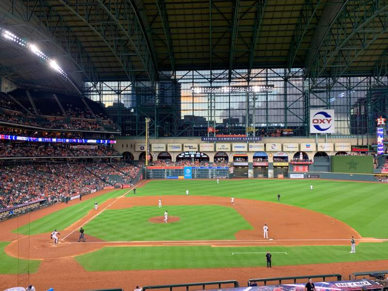Seating view for Minute Maid Park Section 224 Row 1 Seat 15
