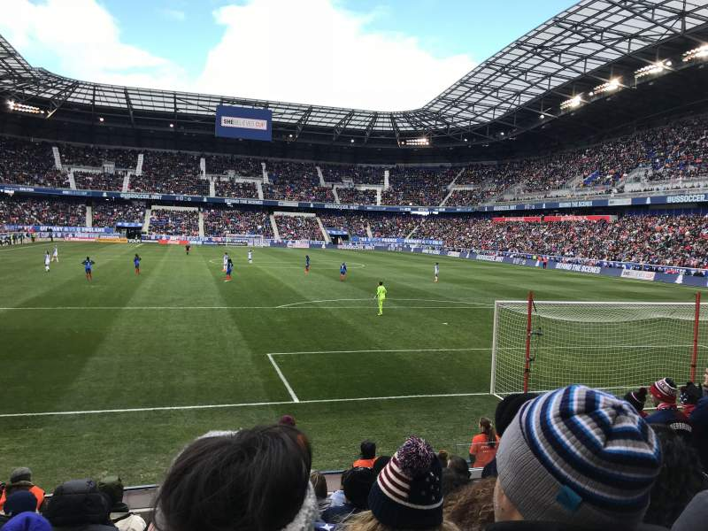 Seating view for Red Bull Arena (New Jersey) Section 102 Row 7 Seat 6