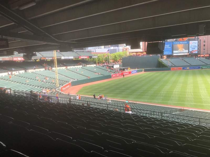 Seating view for Oriole Park at Camden Yards Section 61 Row 11 Seat 5