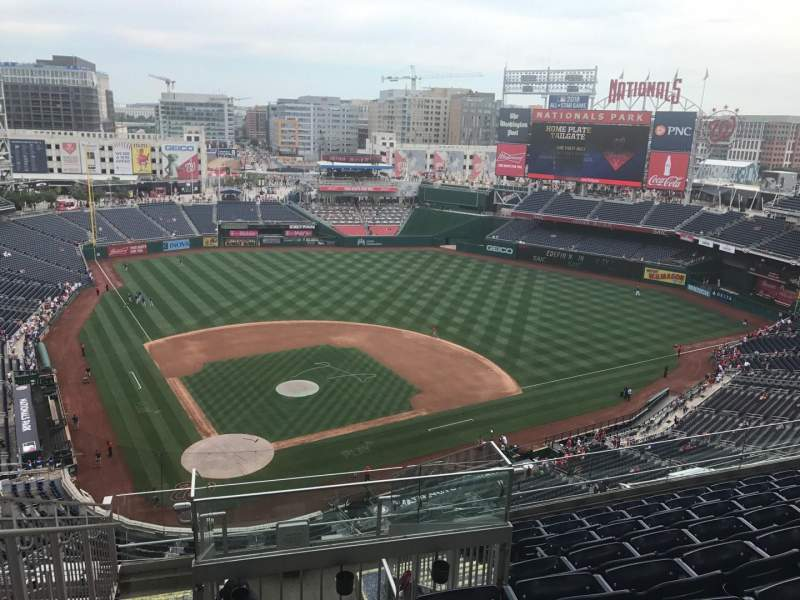 Seating view for Nationals Park Section 416 Row H Seat 26