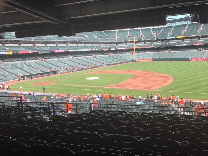 Seating view for Oriole Park at Camden Yards Section 15 Row 10 Seat 18