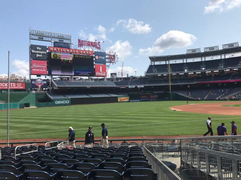 Seating view for Nationals Park Section 112 Row R Seat 14