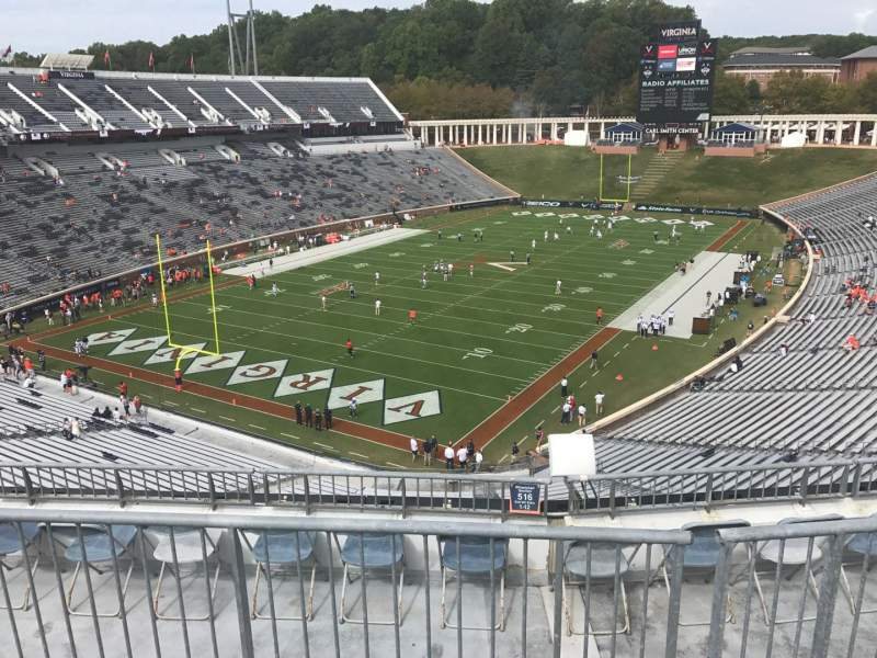 Scott Stadium, section: 516, row: F, seat: 9