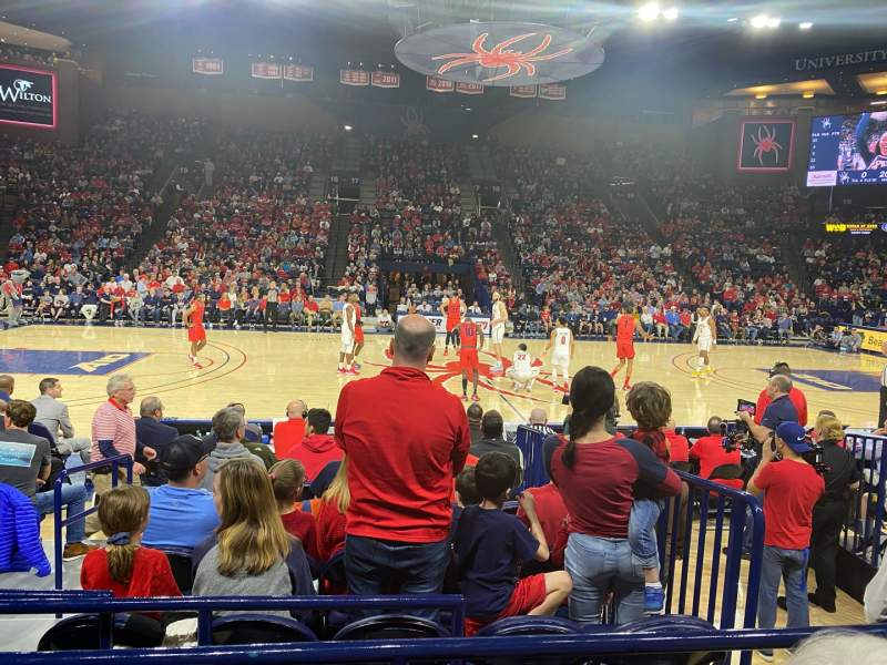Seating view for Robins Center Section 6 Row C Seat 14