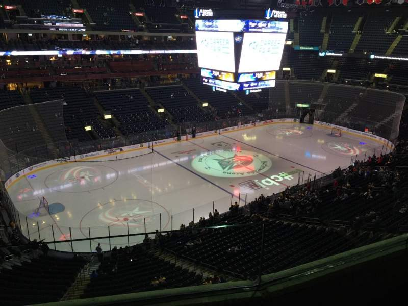 Seating view for Nationwide Arena Section 206 Row B Seat 4