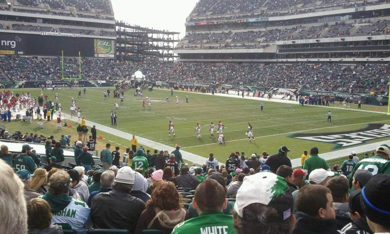 Seating view for Lincoln Financial Field Section 126 Row 26 Seat 10